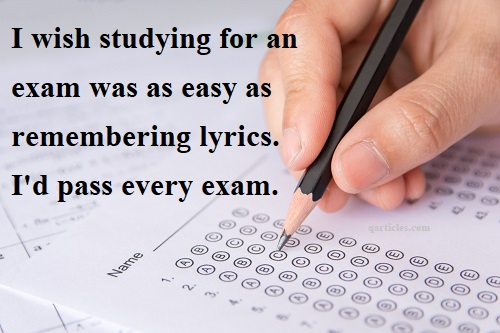 Quotes about exam
